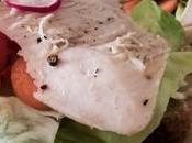 Sandwich poulet légumes croquants