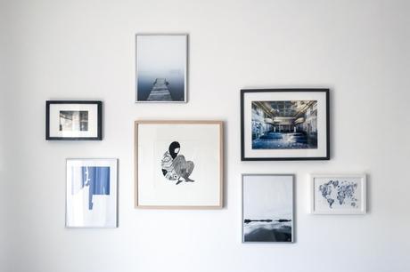 astuce pour son mur de cadres paperblog. Black Bedroom Furniture Sets. Home Design Ideas