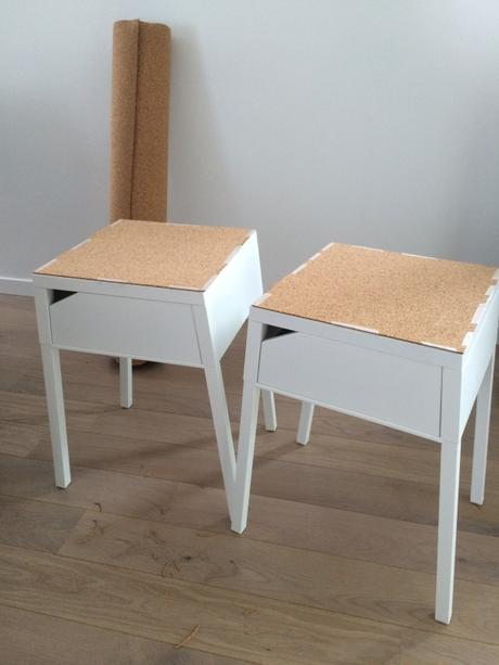 Diy table de chevet selje ik a li ge paperblog for Tables de nuit ikea