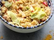 Salade croquante quinoa, radis, abricots secs curry