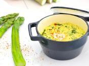 Oeufs cocotte épinards, curry lait coco