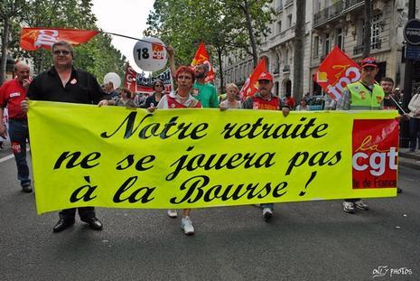 Manifestation contre la réforme des retraites et des 35H