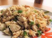 Jipao doufu, tofu sauté ciboules 鸡刨豆腐
