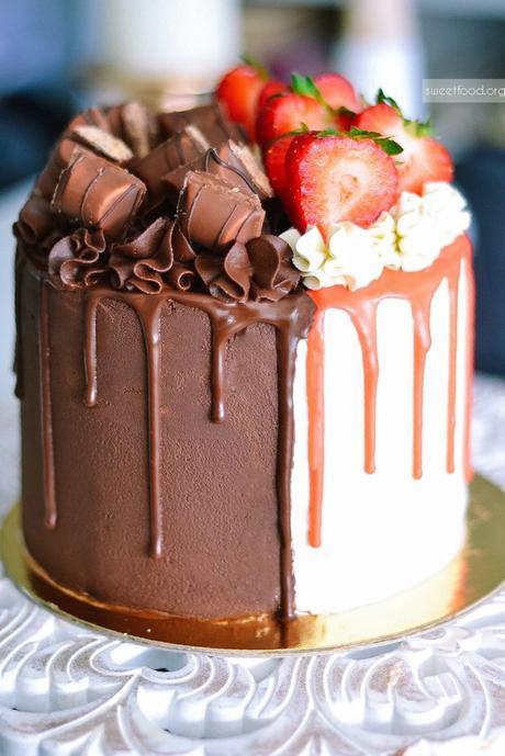 Recette Layer Cake Fraise Chocolat Blanc