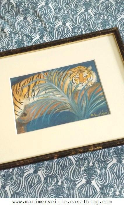 tigre peint à la main marimerveille