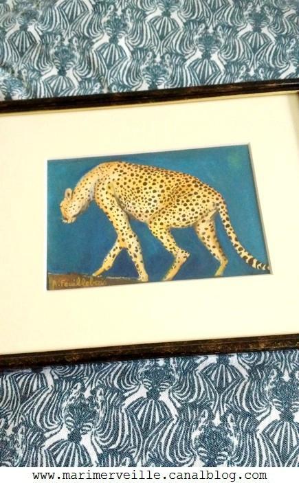 jaguar peint à la main marimerveille