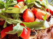 Toast pesto légumes