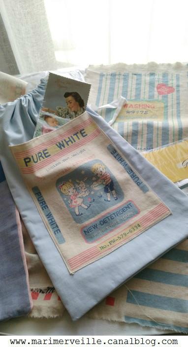 Sac à linge pure white Marimerveille
