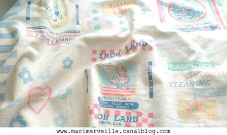joli tissu d'esprit vintage - marimerveille