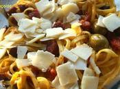 Pâtes Chorizo Olives Tomates confites Parmesan