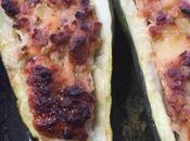 Courgettes farcies viande jambon