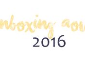 Unboxing Août 2016