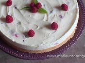 cheesecake framboises sans cuisson