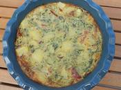 Tortilla courgette jambon