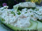 barquettes concombres surimi