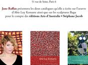 Signature deux livres l'art aborigène l'oeuvre d'Abie Kemarre, sculptures Bagu Paris septembre 2016