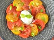 Carpaccio tomates glace mozzarella-basilic... comment revisiter tomate-mozza