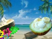 Recette dessert minute melon, crème glacée vanille, chantilly