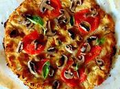 Pizza avec croûte chou-fleur