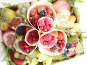 Offrez fruits avec corbeille