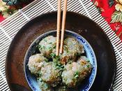 """Niouk Boulettes """"chouchou"""" {chayotte} """"chevrettes secs"""" {petites crevettes rivière séchées} vapeur, recette sino-mauricienne plutôt originale"""