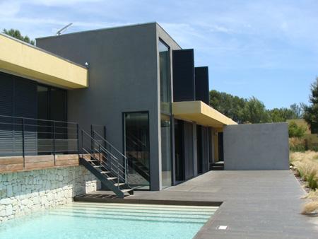 Emejing maison contemporaine grise gallery amazing design ideas