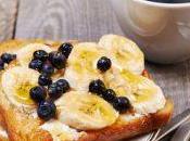 Tartine pain perdu banane myrtilles