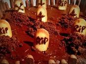 Recette gâteau choc façon cimetière d'Halloween
