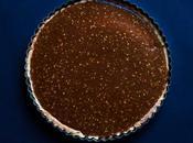 Tarte caramel salé, chocolat sésame