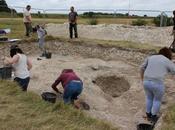 ancienne structure découverte site Durrington Walls près Stonehenge