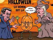 François Hollande affronte Halloween démons