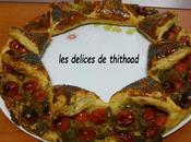 tarte couronne tapenade d'olives vertes