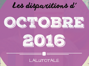 disparitions d'Octobre 2016