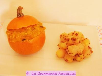 Courges pomme d 39 or farcies quinoa millet et lentilles corail vegan voir - Comment cuisiner les lentilles corail ...