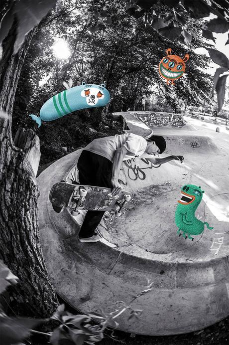 Dessin de personnages et skateboard par mickael brana paperblog - Dessin skateboard ...
