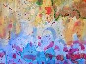 Aquarelle abstraite: chant couleurs comme ponctuation vie/Abstract watercolor: singing(song) colors punctuation life/