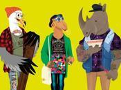 Hipster animals bestiaire urbain Dyna