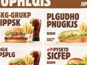 Burger King menus illisibles pour faire campagne contre illettrisme
