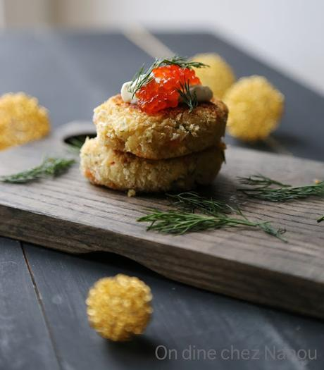 croquettes croustillantes de pommes de terre au saumon fum paperblog. Black Bedroom Furniture Sets. Home Design Ideas