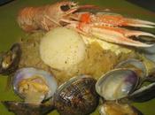 choucroute mer: crustacés fruits mer, sauce beurre citronné