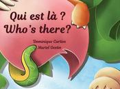 """Who's there?"" Nouvel album bilingue Bilingual children book."