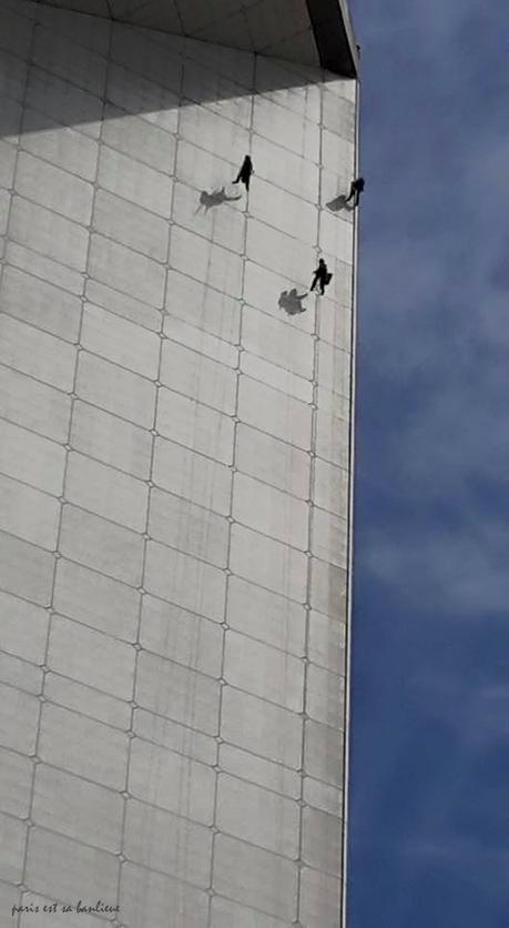 Quand les ascenseurs sont en panne à La Défense ;-)