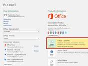 Obtenir mises jour d'Excel 2016