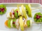 Brochettes diététiques fruits d'hiver