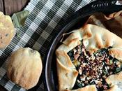 Quiche épinards, boursin noix pécans pour déjeuner rapides