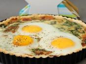 Tarte épinards œufs