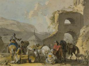 michel-hamon-duplessis-soldats-avec-des-femmes-dans-leur-campement-2-fin-xviiieme-coll-par