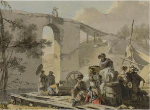 michel-hamon-duplessis-soldats-avec-des-femmes-dans-leur-campement-1-fin-xviiieme-coll-par