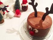 Cake design cerf pour Noël