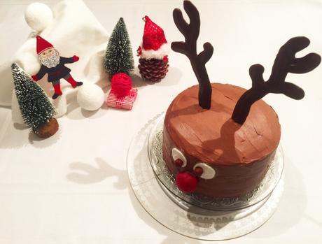 Cake design : un cerf pour Noël